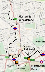 TfL's planned Quietway for Harrow (June 2015)
